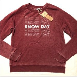 NWT American Eagle Snow Day Sweatshirt Metallic S